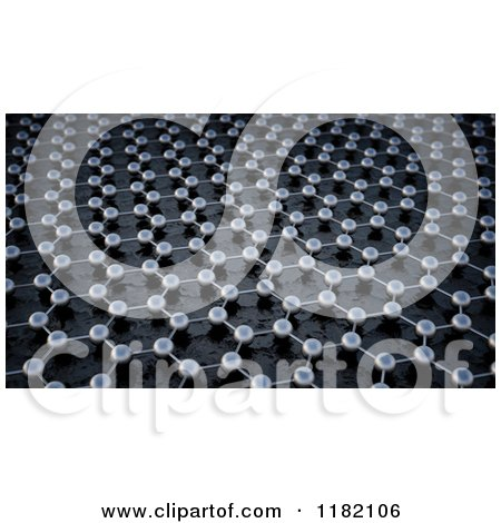 Clipart of a 3d Graphene Atomic Structure Background - Royalty Free CGI Illustration by Mopic