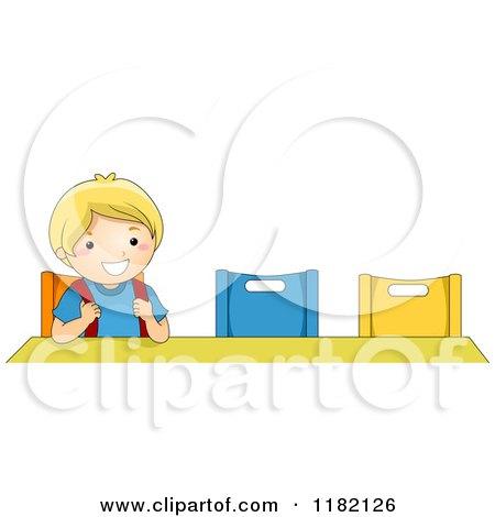Royalty free rf kindergarten clipart illustrations - Cartoon girl sitting alone ...