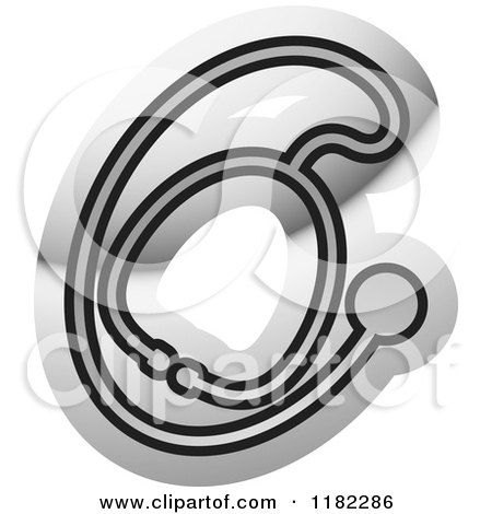 Clipart of a Stethoscope on Silver - Royalty Free Vector Illustration by Lal Perera