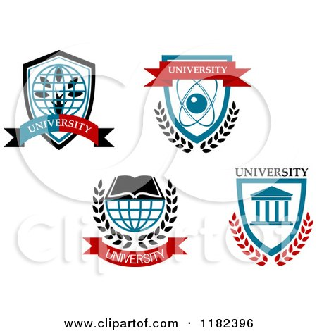Clipart of University Emblems - Royalty Free Vector Illustration by Vector Tradition SM