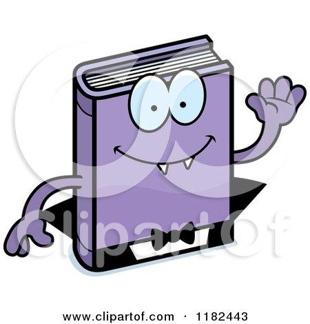 Waving Horror Vampire Book Mascot Posters, Art Prints