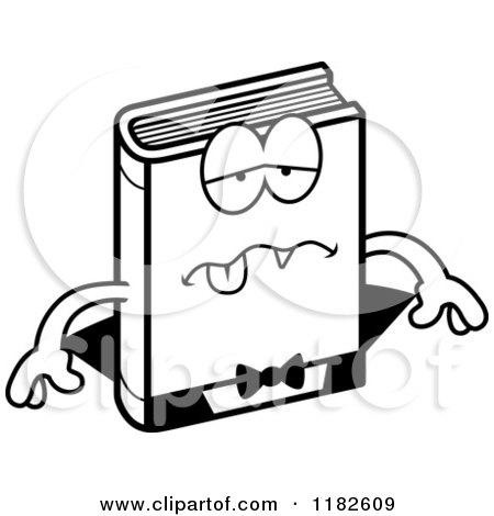 Black and White Sick Horror Vampire Book Mascot - Royalty ...