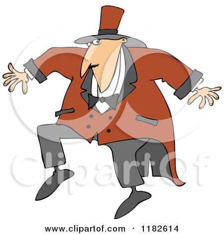 Cartoon of a Sneaky Circus Ring Master Man - Royalty Free Vector Clipart by djart