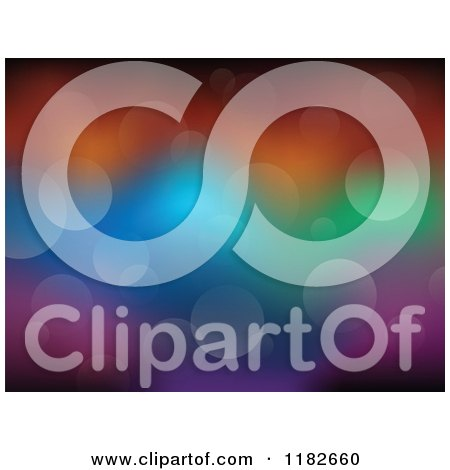 Cartoon of a Colorful Background of Flares - Royalty Free Vector Clipart by visekart
