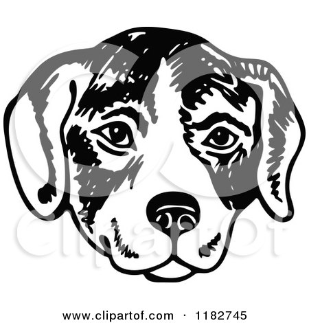 Royalty free rf dog face clipart illustrations vector graphics 1 - Clipart visage ...
