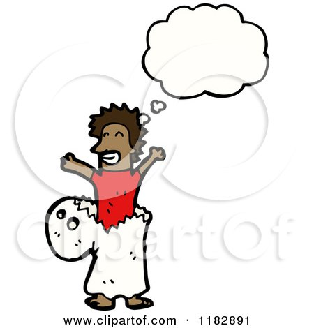 Cartoon of a Child Dressed up in a Ghost Costume with a Conversation Bubble - Royalty Free Vector Illustration by lineartestpilot