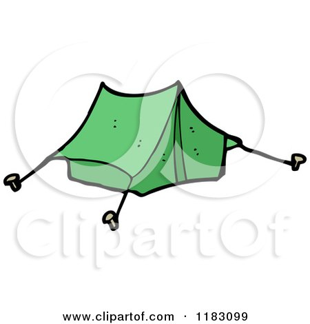 Cartoon of a Tent - Royalty Free Vector Illustration by lineartestpilot