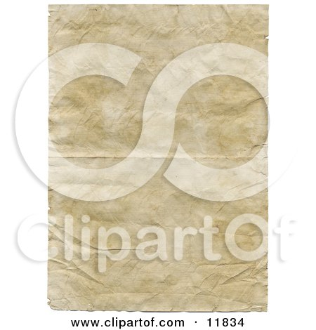 Old Paper with Wrinkle and Crinkles Clipart Illustration by AtStockIllustration