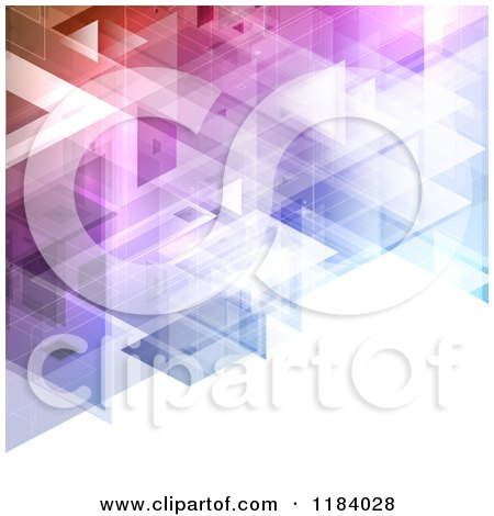 Clipart of a Background of Colorful Squares and Lights - Royalty Free Vector Illustration by KJ Pargeter
