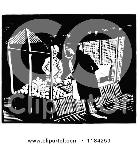 Vintage Farmers Market Clipart