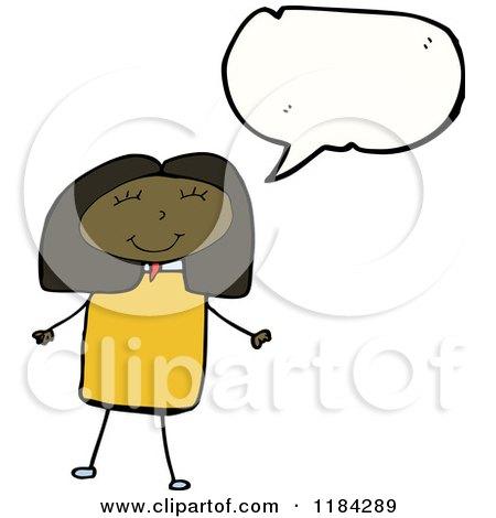 Girl speaking clipart