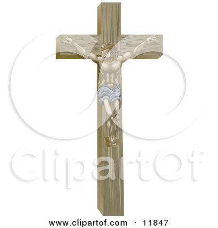 Jesus Nailed on the Crucifix Posters, Art Prints