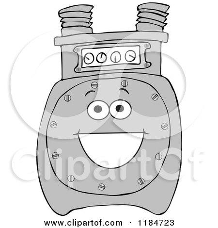 Happy Gas Meter Mascot Posters, Art Prints