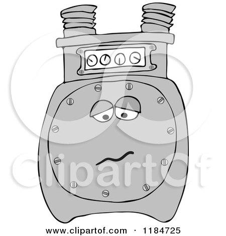 Sad Gas Meter Mascot Posters, Art Prints