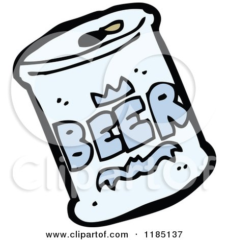 Cartoon of a Can of Beer - Royalty Free Vector Illustration by lineartestpilot