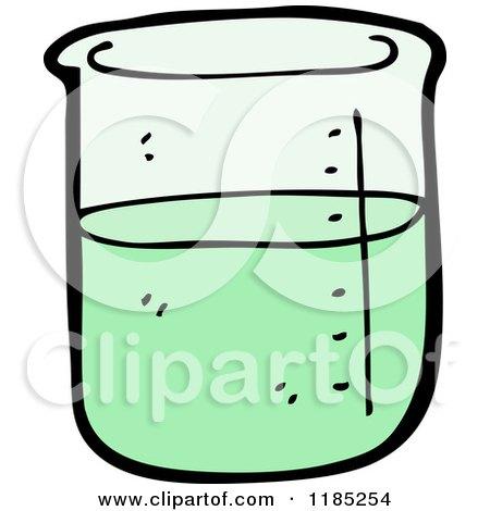 Cartoon of a Green Liq...