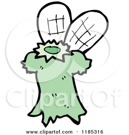 Cartoon of a Fairy Costume - Royalty Free Vector Illustration by lineartestpilot