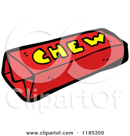 cartoon of a pack of chewing gum royalty free vector