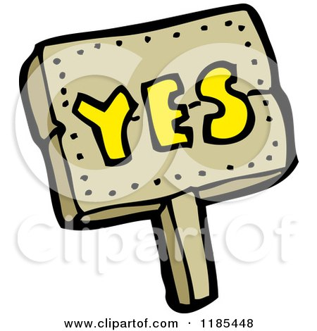 Royalty-Free (RF) Yes Sign Clipart, Illustrations, Vector ...