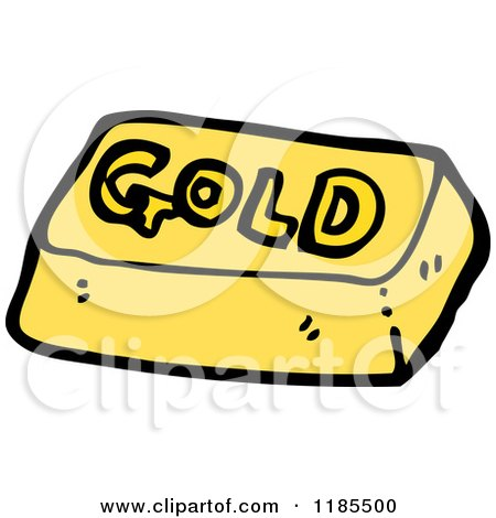 Cartoon of a Gold Bar - Royalty Free Vector Illustration ...