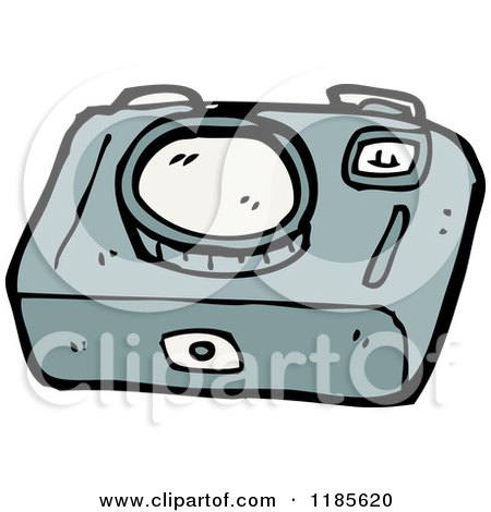 Cartoon of a Camera - Royalty Free Vector Illustration by lineartestpilot