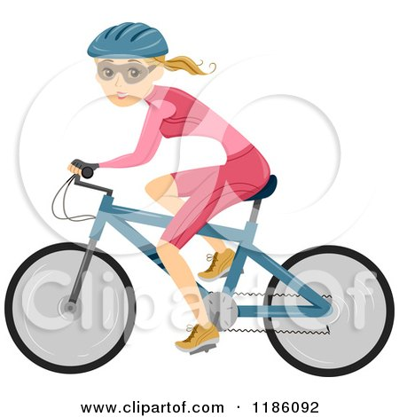 Royalty-Free (RF) Cyclist Clipart, Illustrations, Vector Graphics #1