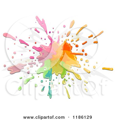 Cartoon of a Splatter of Colorful Paint - Royalty Free Vector Clipart by BNP Design Studio