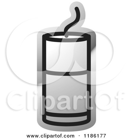 Clipart of a Silver Mining Detonator Button Icon - Royalty Free Vector Illustration by Lal Perera