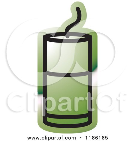 Clipart of a Green Mining Detonator Button Icon - Royalty Free Vector Illustration by Lal Perera