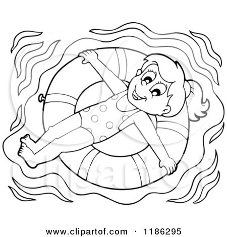 girl swimming coloring sheets pages - photo#23