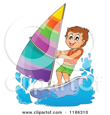 Royalty Free RF Windsurfing Clipart Illustrations Vector Graphics 1