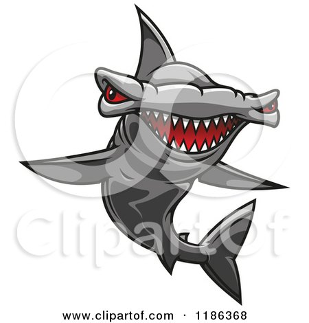 Royalty-Free (RF) Hammerhead Shark Clipart, Illustrations ...