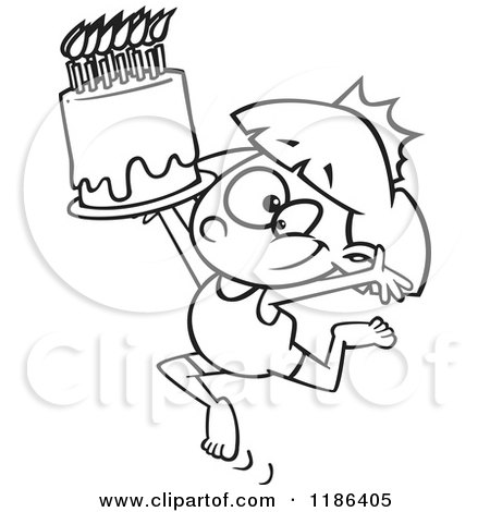 Cartoon Of A Black And White Gymnastics Princess Girl With A Tiara