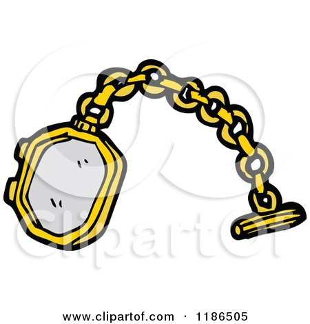 Cartoon of a Tie Chain - Royalty Free Vector Illustration by lineartestpilot