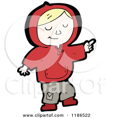 Cartoon of a Boy Wearing a Hoodie - Royalty Free Vector Illustration by lineartestpilot