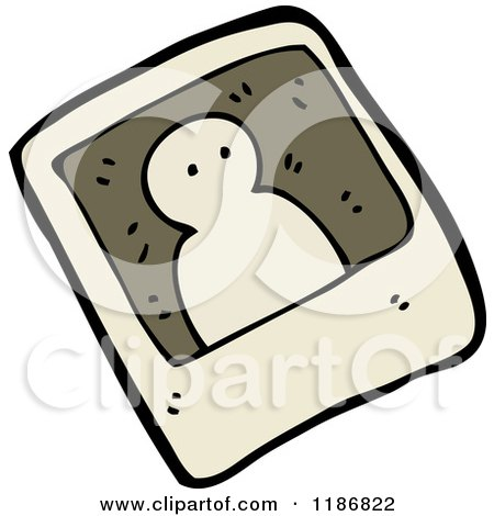 Cartoon of a Black and White Ghost Photo - Royalty Free Vector Illustration by lineartestpilot