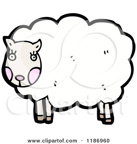 Cartoon of a Sheep - Royalty Free Vector Illustration by lineartestpilot