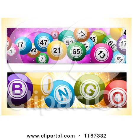 Clipart of Bingo and Lottery Ball Banners - Royalty Free Illustration by elaineitalia