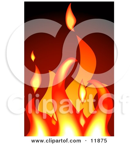 Hot Flames in a Fire Clipart Illustration by AtStockIllustration