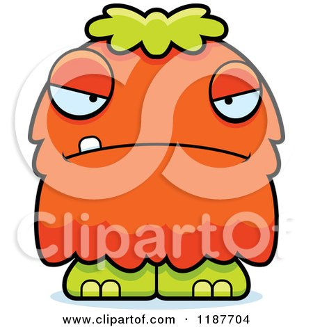 Cartoon of a Mad Furry Monster - Royalty Free Vector Clipart by Cory Thoman