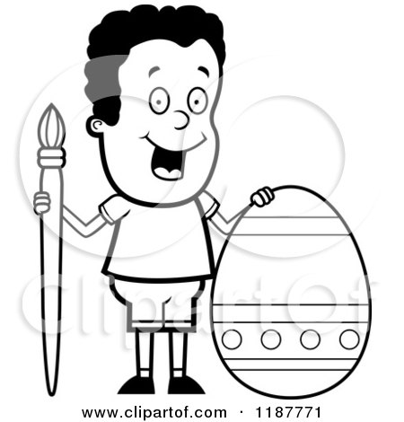 Easter Egg Clip Art Black and White