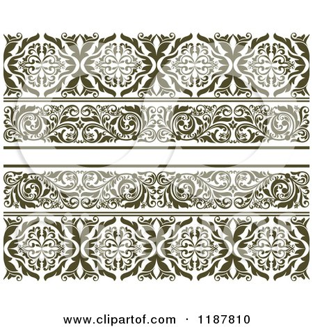 Clipart of Vintage Ornate Floral Borders - Royalty Free Vector Illustration by Vector Tradition SM