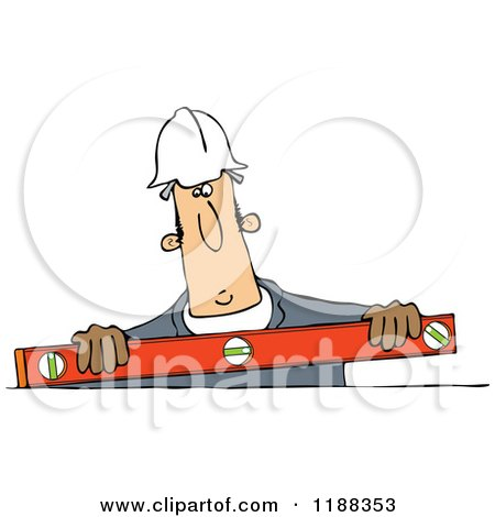 Construction Worker Holding a Box Beam Level Posters, Art Prints
