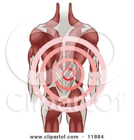 Man With Back Pain Clipart Illustration