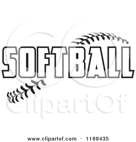 Cartoon Of Peace Love Softball Graphics - Royalty Free Vector ...