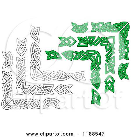 Royalty-Free (RF) Clipart of Green Celtic Borders, Illustrations ...
