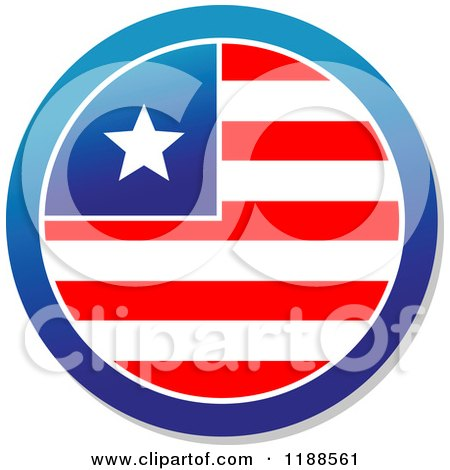 Clipart of a Round American Stars and Stripes Label 5 - Royalty Free Vector Illustration by Vector Tradition SM