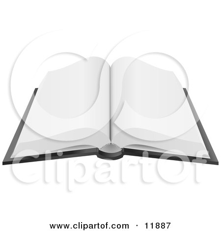 Open Book With Blank Pages Clipart Picture by AtStockIllustration