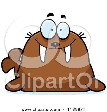 Cartoon of a Happy Walrus Mascot - Royalty Free Vector Clipart by Cory Thoman