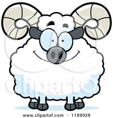 Cartoon of a Happy Ram Mascot - Royalty Free Vector Clipart by Cory Thoman